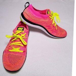 Nike Free TR Focus Flyknit Womens Neon Multi 5